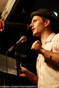 Erich Hagan performs on the Cantab open mic. Photo by Hannah Cohen.
