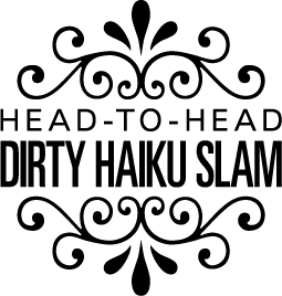 The Boston Poetry Slam's annual Erotic Poetry Night presents the Head-to-Head Dirty Haiku Slam! Logo by Gary Hoare.