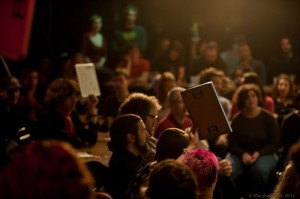 The packed house at the Team Slam Preliminaries. Photo by Marshall Goff.