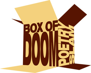 Box of Doom Poetry Slam. Logo by Gary Hoare.