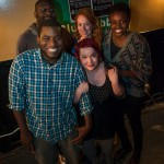 The 2012 Boston Poetry Slam Team. Back to front, left to right: Oz, Antonia, Kemi, Mckendy, and Melissa. Photo by Marshall Goff.