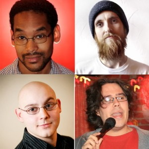 Comedians Wes Hazard, John Paul Rivera, Gary Petersen, and Matt Kona get ready to get funny on your funny bone.