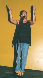 Tommy Mendez performs, circa 2000.
