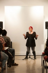 Melissa Newman-Evans performs at the Attleboro Arts Museum. Photo by Marshall Goff.