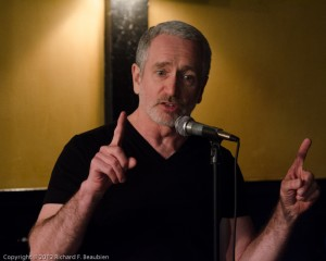 Tom Slavin teaches the upstarts what slam is all about at a 2012 event. Photo by Rich Beaubien.