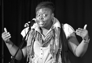 Porsha Olayiwola, dope performer, educator, and coach.