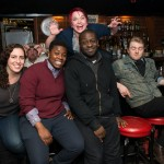 The 2014 Boston Poetry Slam Team (bartender-approved). Photo by Marshall Goff.