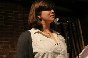 Ellyn Touchette, shown performing at Manchester's Slam Free or Die. Photo by Christopher Clauss.