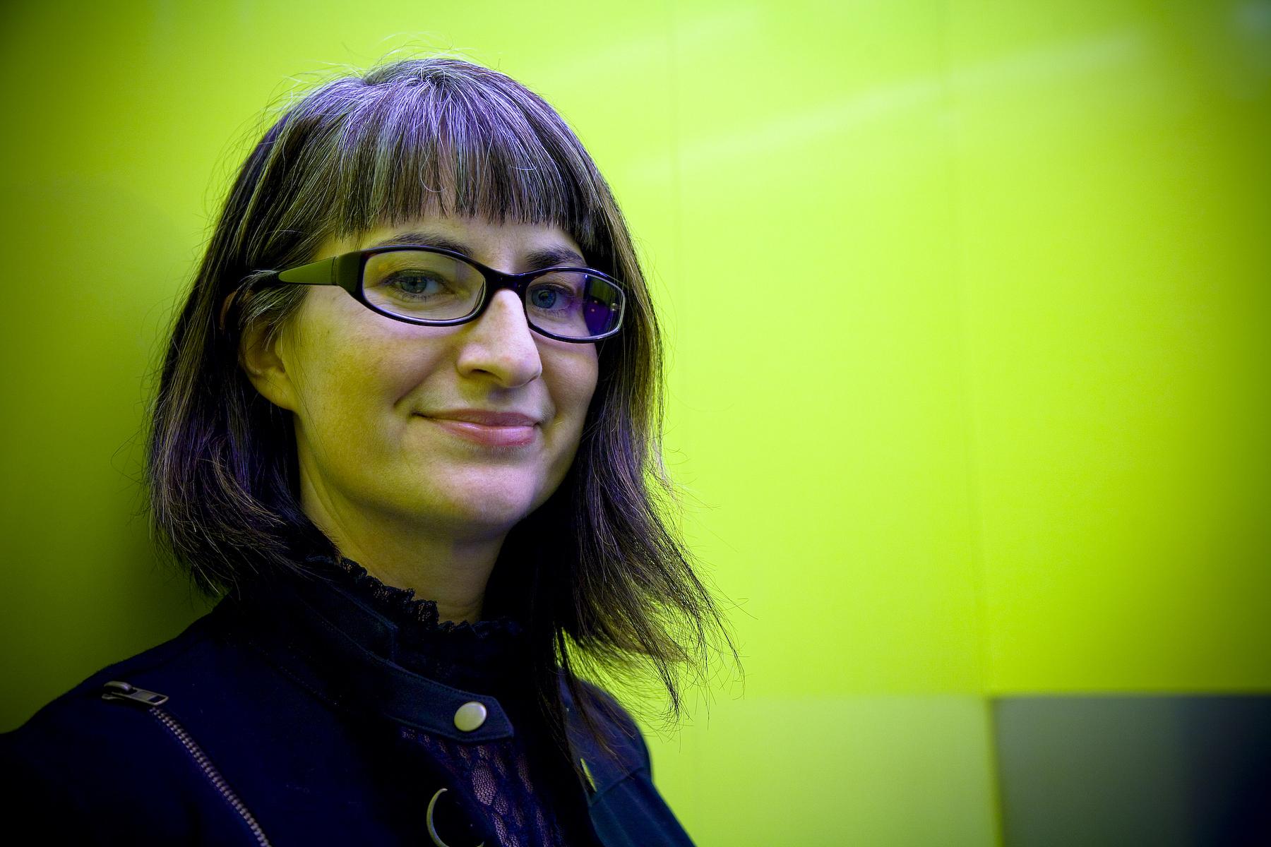 Longtime Seattle performance poet and booming YA novelist Karen Finneyfrock.