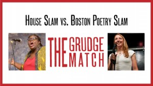 The Haley House vs. Boston Poetry Slam Grudge ReMatch! Banner by Emily Carroll.