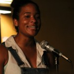 Jasmine Roberts of Northampton Poetry Slam. Photo by Christopher Clauss.