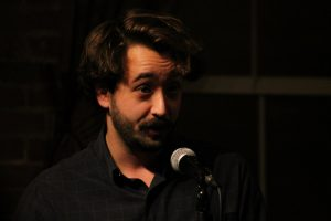 Oft-time Cantab bartender, full-time Cantab poet John Pinkham. Photo by Christopher Clauss at Slam Free or Die.
