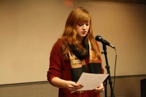 Open mic favorite and Lesley grad Marisa Glynn. Photo courtesy of Emerson Poetry Project.