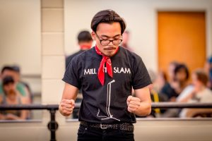 Ricky Orng represents the Mill City Slam at the 2016 National Poetry Slam. Photo by Guangpyo Hong.