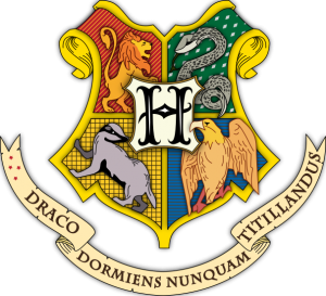Hogwarts seal courtesy of Wikipedia Commons, based on original design by Eleanor Taylor.