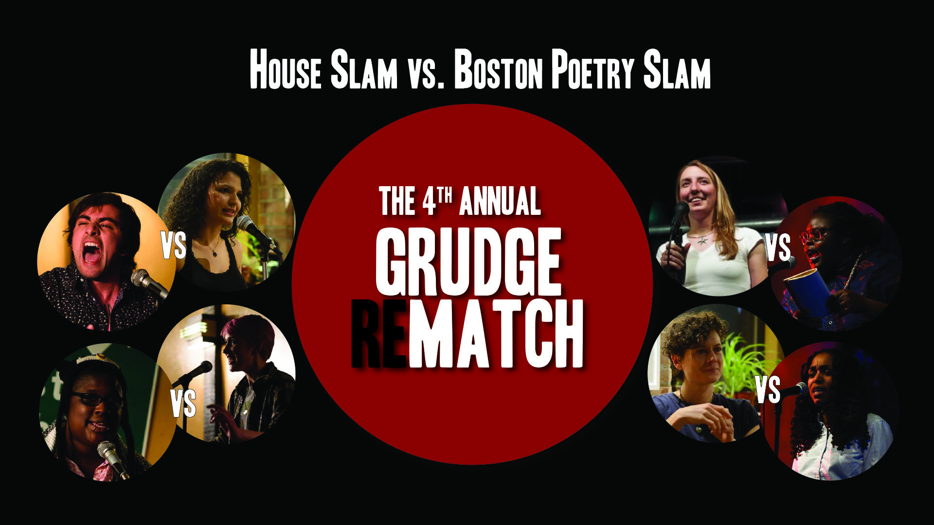 The Haley House vs. Boston Poetry Slam Grudge ReMatch! Banner by Meaghan Ford.