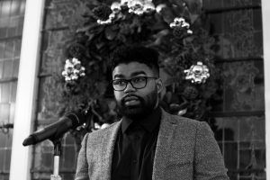 2017 Cave Canem Poetry Prize winner Julian Randall. Photo by Nicholas Nichols.