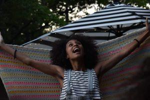 Philly-based poet and workshop leader Ashley Davis. Photo by Alex @setdreadstostun.