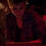 Carrie Rudzinski, hard at work on the score spreadsheet. Photo by Marshall Goff.