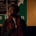 Kemi Alabi speaks for the Green Line. Photo by Marshall Goff.