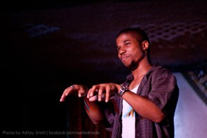 Detroit poet Deonte Osayande. Photo by Ashley Smith.