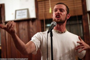 Nationally touring New Hampshire performance poet Beau Williams. Photo credit to Hannah Cohen.