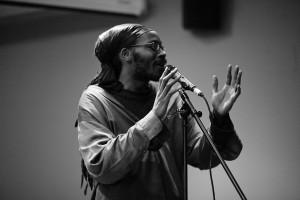 Khary Jackson, St. Paul poet, playwright, and Cave Canem Fellow.