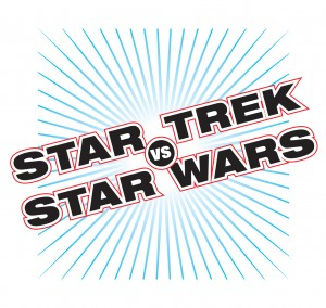 Star Trek vs. Star Wars! Official logo! By Gary Hoare!