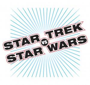 Star Trek vs. Star Wars! Official logo! By Gary Hoare!