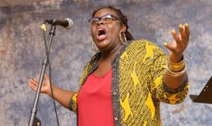 Porsha Olayiwola, Haley House co-founder and 2014 Individual World Poetry Slam Champion.