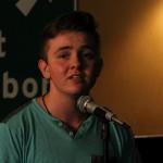 Robbie Warren of Northampton Poetry Slam. Photo by Christopher Clauss.