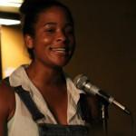 Jasmine Roberts of Northampton Poetry Slam. Photo by Christopher Clauss.