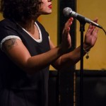 Melissa Lozada-Oliva brings it all home in her feature set. Photo by Rich Beaubien.