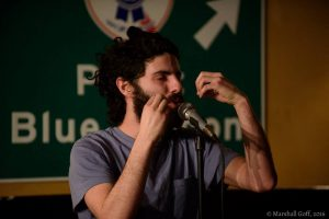 Joshua Elbaum performs at the 2016 BPS Team Selection Slams. Photo by Marshall Goff.