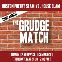 OBERON in Harvard Square welcomes the Third Annual Grudge Match on March 30, 2017!