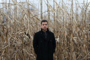 Jonathan Mendoza, Boston-based National Poetry Slam Champion and pizza pi author. Photo by Gregory Jundanian.