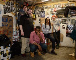 The 2017 Boston Poetry Slam Team is: Brandon Melendez, Zeke Russell, Mckendy Fils-Aimé, Neiel Israel, Myles Em Taylor. Photo by Marshall Goff.